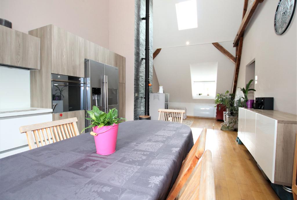 En dernier étage, appartement 5 pièces en duplex 93.40 m² (115 m² utiles) caves et parking à vendre à CHATEL-SAINT-GERMAIN
