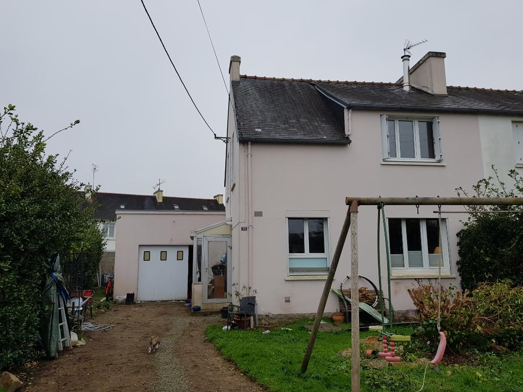 Maison 3 ch + garage + jardin à PONT L'ABBE