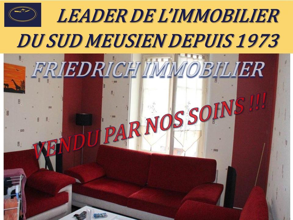 APPARTEMENT PLEIN CENTRE  HABITABLE DE SUITE  Loué 300€/mois depuis le 01/03/2009 - LIGNY EN BARROIS
