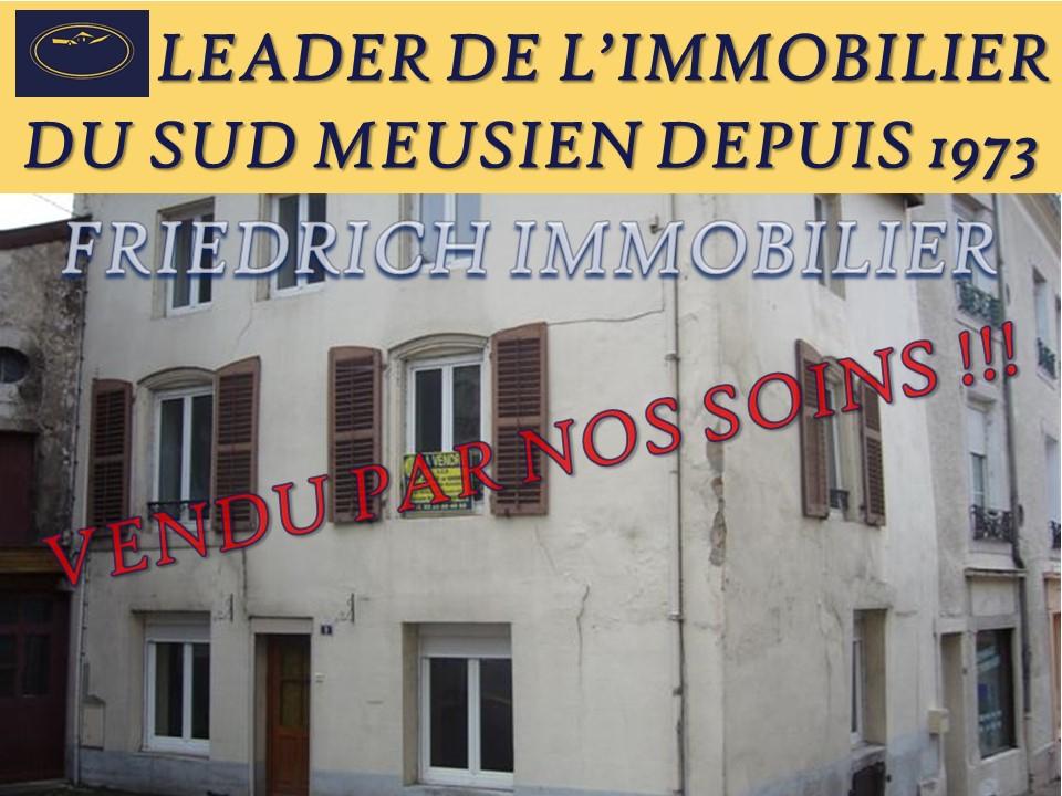 MAISON DE VILLE ACTUELLEMENT LOUÉE - CENTRE VILLE ST-MIHIEL