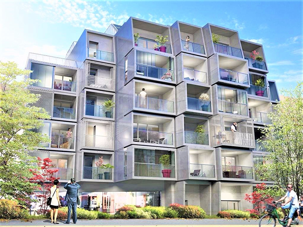 A vendre logement neuf Rennes livraison 2018, vente appartement neuf trois pièces à Rennes, quartier Gare - PO-PIX