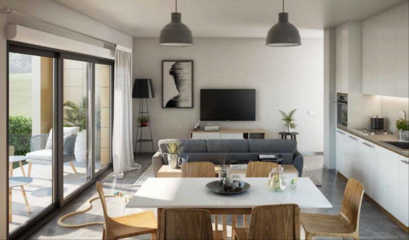 Appartement neuf une pièce au centre de Dinard, à deux pas de la place du marché