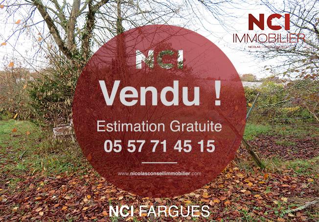 ENCORE VENDU PAR VOTRE AGENCE NCI DE FARGUES ST HILAIRE!!! Terrain à Bâtir  870m² !!
