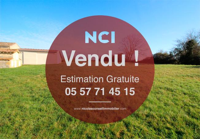 Encore un Terrain sur la commune de GUILLAC vendu par votre Agence NCI !!
