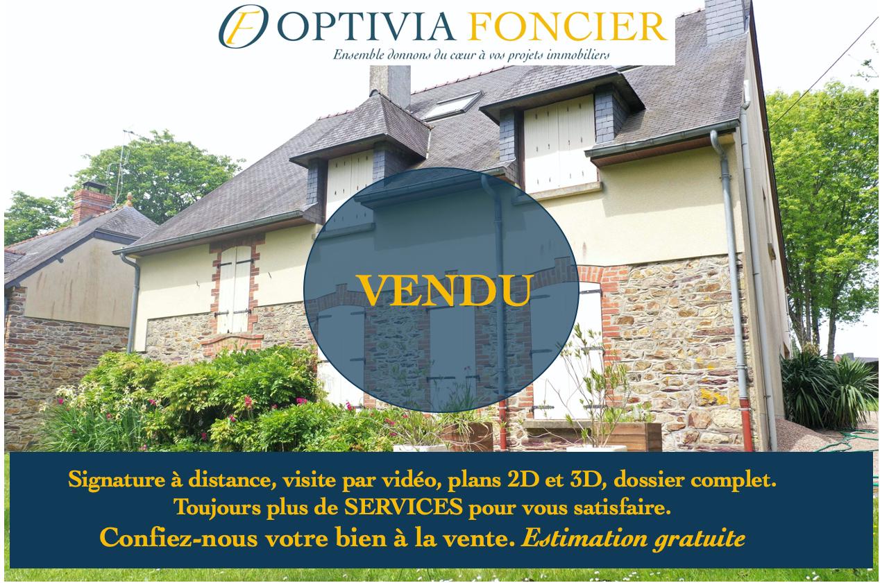 VENDU - Maison T4 Baulon 150 m² - 2 890 m² de terrain (travaux à prévoir)