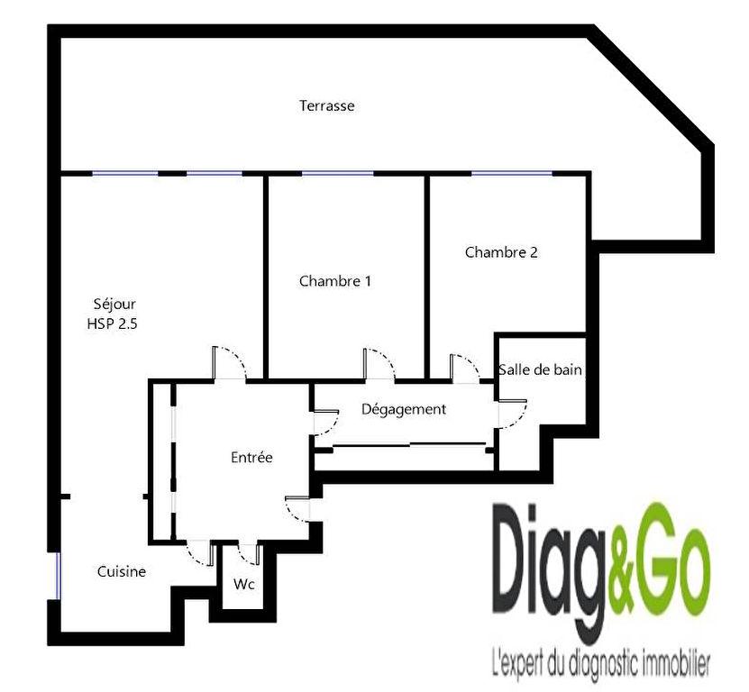 Appartement 3 pièces 73m² + Terrasse 51m² Paris 19ème