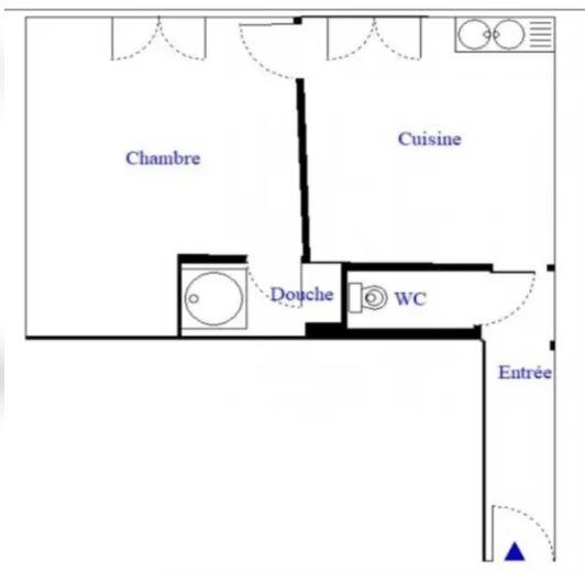 Appartement 2 pièces 22.82m² 75018 Paris
