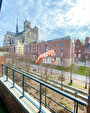 TEXT_PHOTO 0 - A vendre, hyper centre d'Amiens, bel appartement triplex récent de 82,13 m² loi Carrez avec balcon vue Cathédrale