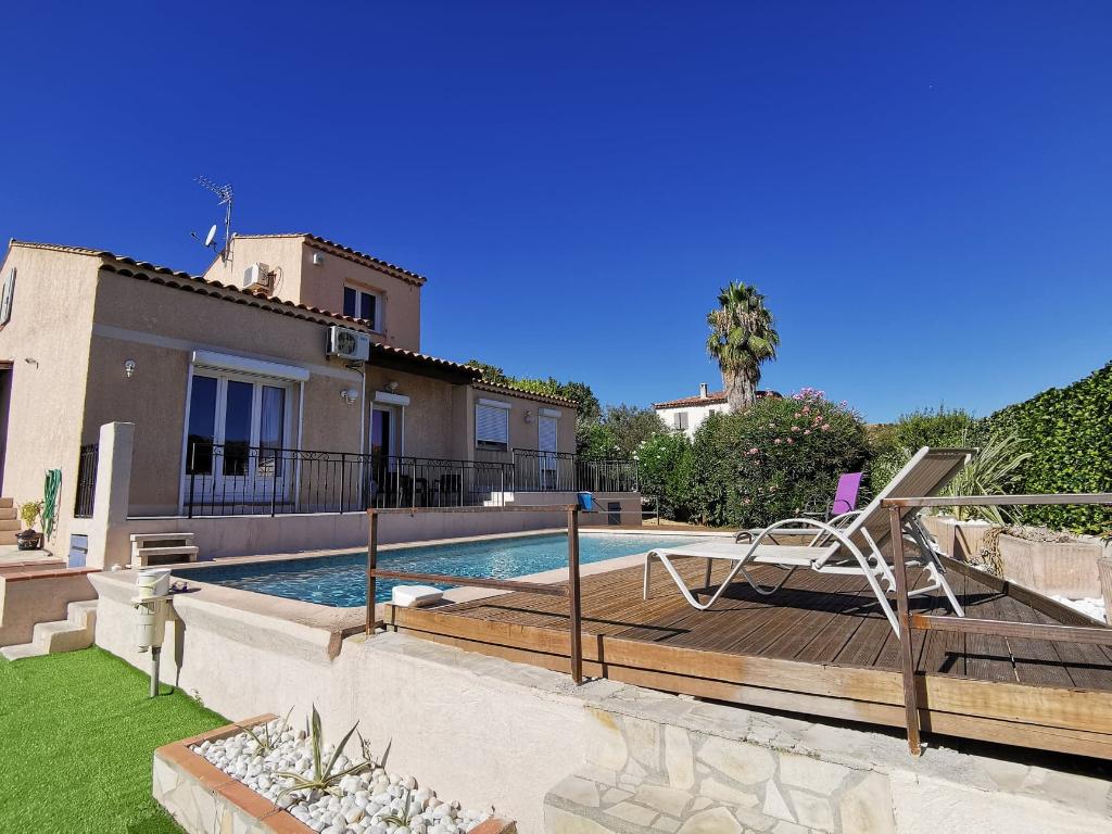 A vendre Maison T5/6 de 142m² avec piscine sur 570m² de terrain à Château Gombert 13013 Marseille