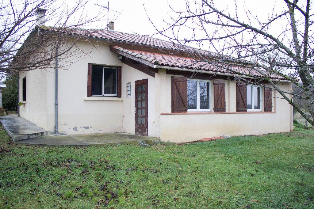 A vendre : proche St Gaudens maison 140m² hab. garage, terrain 600m²