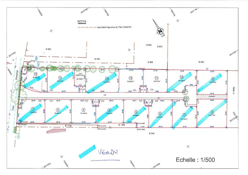 A Vendre Saint Hilaire Terrain lotissement   438 m2