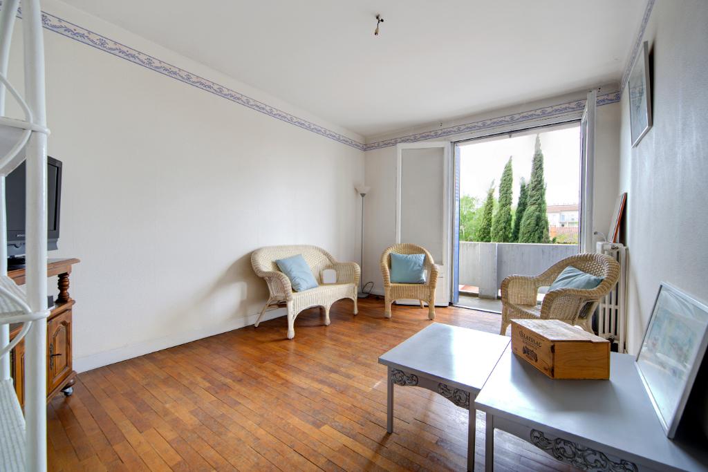 Patte d'oie Appartement Toulouse 3 pièce(s) 55 m2 Traversant Balcon, garage, cave