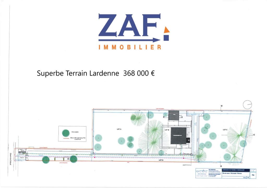 A VENDRE Toulouse  Lardenne Terrain 1084 m²- coup de coeur